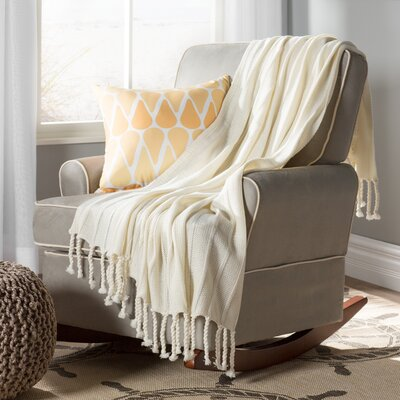 Harrisville Throw Blanket Color: Cream