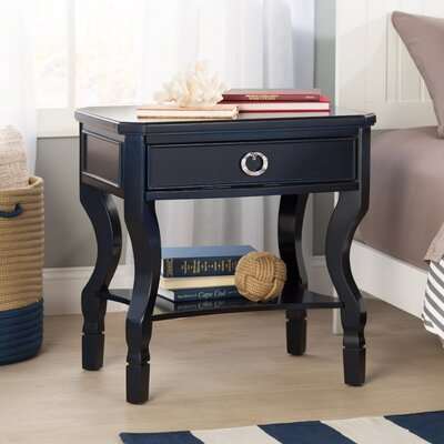 Rowe 1 Drawer Nightstand Finish: Navy