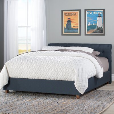 Farnsworth Upholstered Platform Bed Size: Queen, Headboard Color: Navy