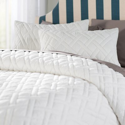 Woodbridge 3 Piece Duvet Set Color: White, Size: King