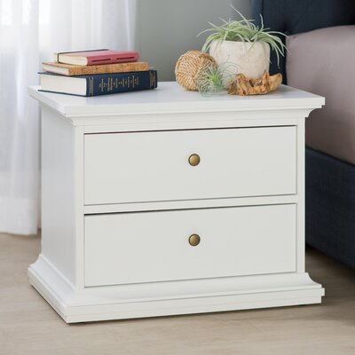 Breckenridge 2 Drawer Nightstand Color: White