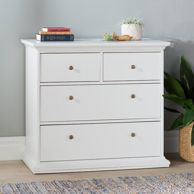 Paloma 4 Drawer Chest Color: White