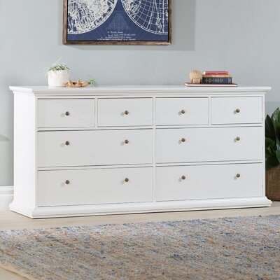 Paloma 8 Drawer Double Dresser Color: White