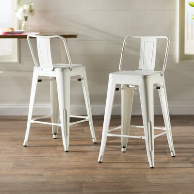 Derbyshire 24 Bar Stool Finish: Sand Matte White