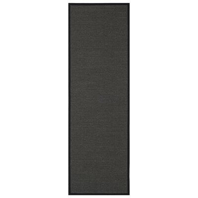 Anthracite Anthracite/Black Area Rug Rug Size: Runner 26 x 8