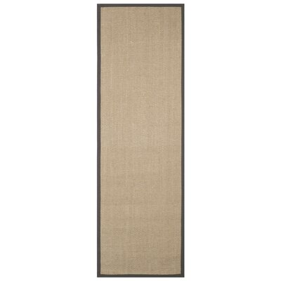 Campbellton Fiber Natural/Gray Area Rug Rug Size: Runner 26 x 8