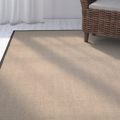 Campbellton Fiber Natural/Gray Area Rug Rug Size: Rectangle 4 x 6
