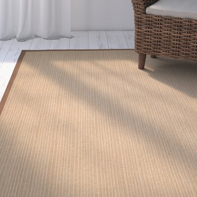 Campbellton Fiber Light Brown Area Rug Rug Size: Rectangle 6 x 9