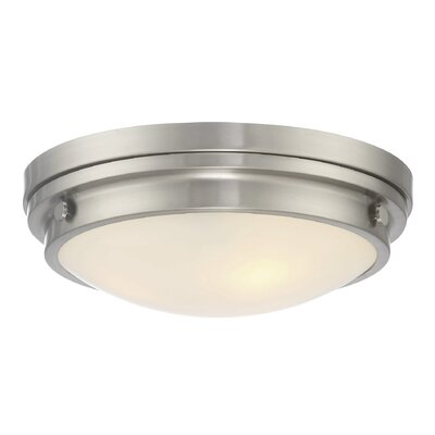 Kinross 3-Light Flush Mount Color: Satin Nickel
