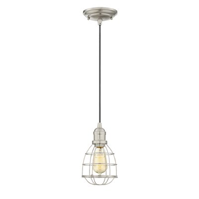 Manston 1-Light Mini Pendant Color: Satin Nickel
