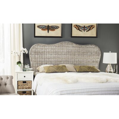 Bendel Panel Headboard Size: Full, Color: White Washed
