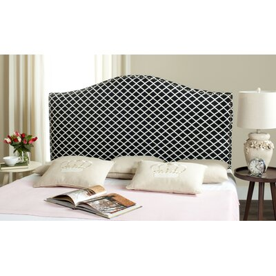 Little Deer Isle Upholstered Panel Headboard Size: Full, Upholstery: Black/White
