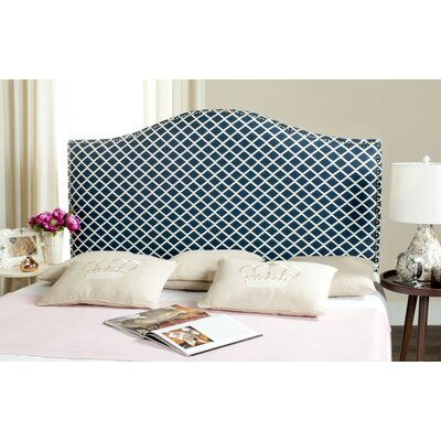 Little Deer Isle Upholstered Panel Headboard Upholstery: Navy/White, Size: Queen