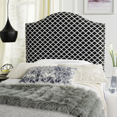 Little Deer Isle Upholstered Panel Headboard Size: King, Upholstery: Black & White