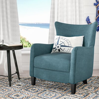 Nisha Fabric Club Chair Upholstery: Dark Teal