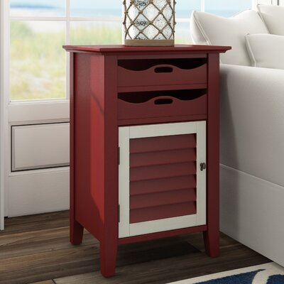 Riviera End Table Finish: Antique Wine with Oatmeal Accents
