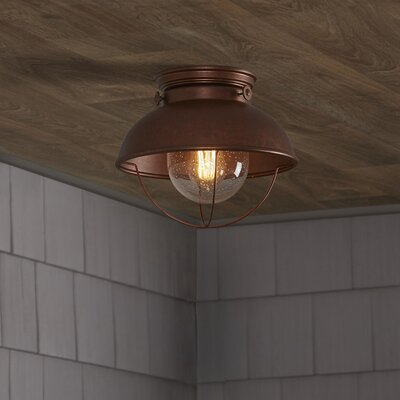 Corbel 1-Light Outdoor Flush Mount Color: Weathered Copper
