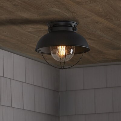 Corbel 1-Light Outdoor Flush Mount Finish: Black