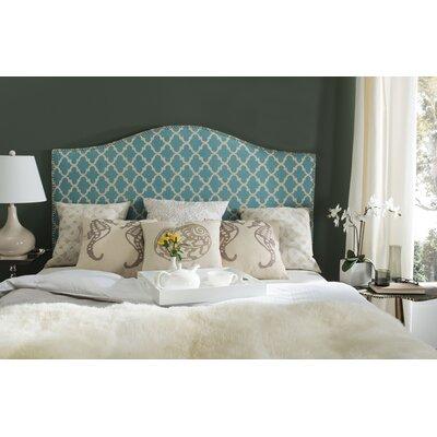 Little Deer Isle Upholstered Panel Headboard Size: Full, Upholstery: Blue/White