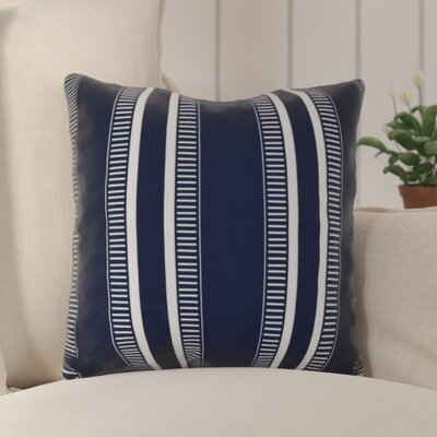 Mundell Outdoor Throw Pillow Size: 16 H x 16 W x 3 D, Color: Navy Blue
