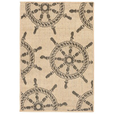 Valero Natural Indoor/Outdoor Area Rug Rug Size: Rectangle 111 x 211