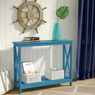 Stoneford Console Table Finish: Blue