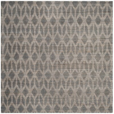 Gilchrist Hand-Woven Grey/Gold Area Rug Rug Size: Square 6