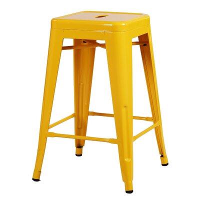 Delaware Tolix 24 Bar Stool Color: Yellow