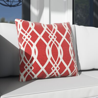 Hillview Outdoor Throw Pillow Color: Hedda Ruby