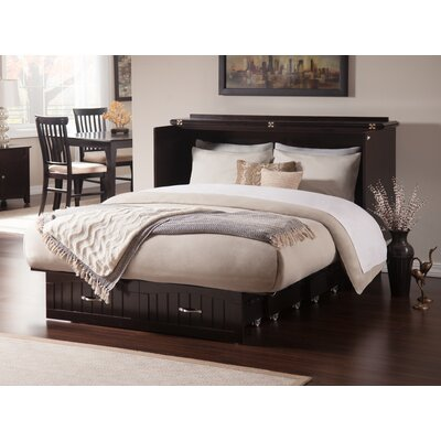 Graham Queen Murphy Storage Platform Bed with Mattress Color: Espresso