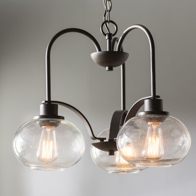 Braxton 3-Light Mini Chandelier Finish: Old Bronze