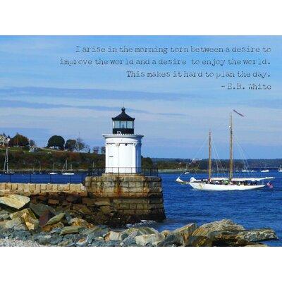 'Arise and Shine Portland, Maine' Graphic Art Print on Canvas