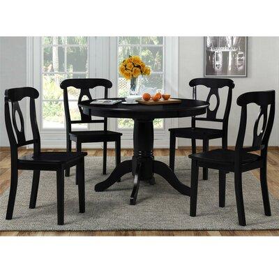 Gaskell 5 Piece Dining Set Color: Black