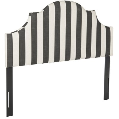 Arden Upholstered Panel Headboard Size: Queen, Upholstery: Black / White