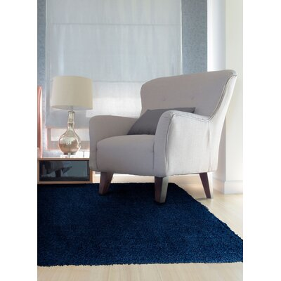 Maryam Shag Navy Blue Area Rug Rug Size: 5 x 7