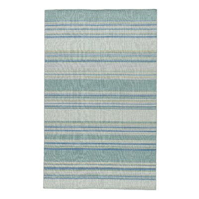 Swans Island Blue Stripe Area Rug Rug Size: Rectangle 2 x 3