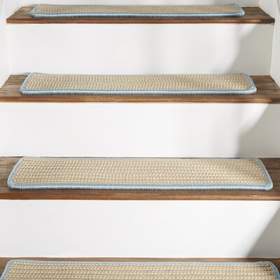 Seal Harbor Light Blue Stair Tread Quantity: Set of 13