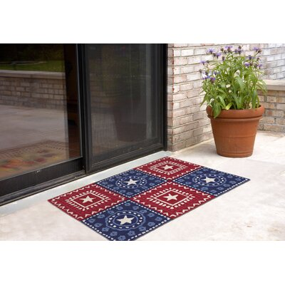 Walton Hand-Tufted Red Indoor/Outdoor Area Rug Rug Size: 2 x 3