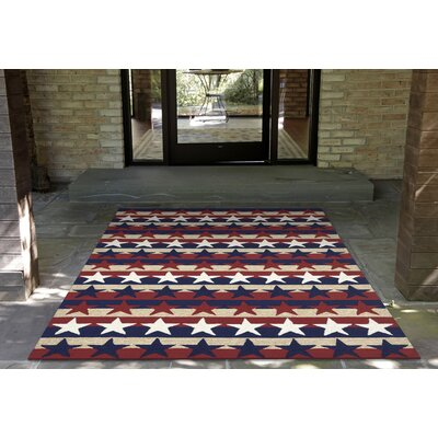 Walton Hand-Tufted Red Indoor/Outdoor Area Rug Rug Size: 35 x 55