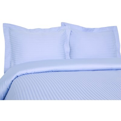 Orleans Reversible Duvet Set Color: Light Blue, Size: Full/Queen