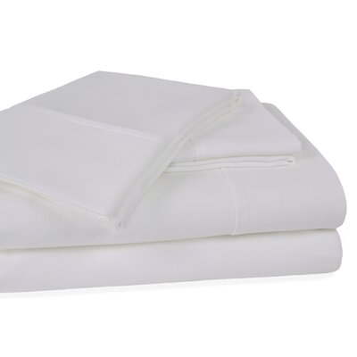 Orleans 300 Thread Count Cotton Sheet Set Size: California King, Color: White