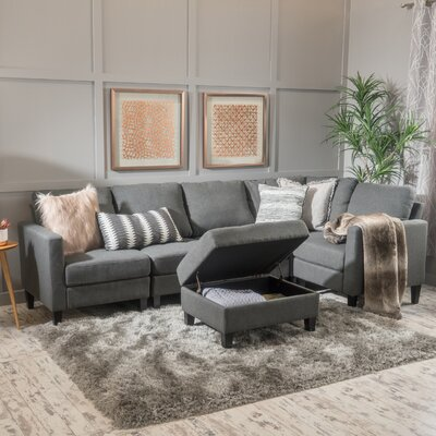 Bayard Modular Sectional Upholstery: Dark Gray