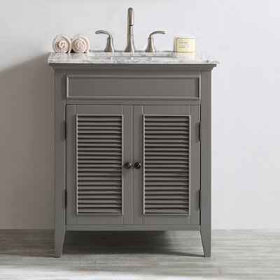 Grovetown 30 Single Vanity Set Base Finish: Grey