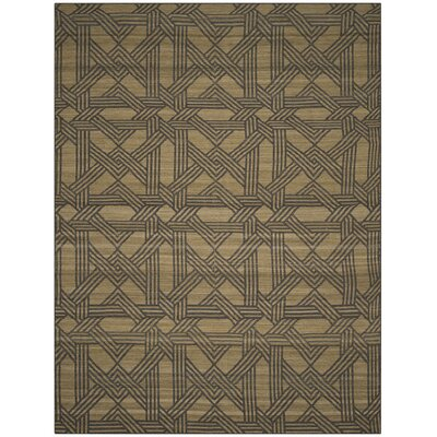Fitzpatrick Hand-Woven Olive/Gray Area Rug Rug Size: Rectangle 8 x 10