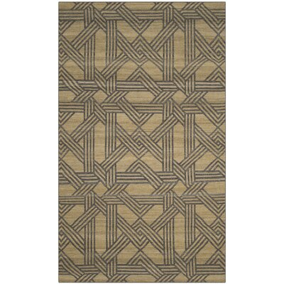 Fitzpatrick Hand-Woven Olive/Gray Area Rug Rug Size: Rectangle 5 x 8