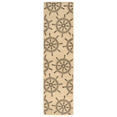 Valero Natural Indoor/Outdoor Area Rug Rug Size: Runner 111 x 76