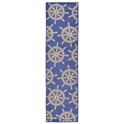 Valero Blue Indoor/Outdoor Area Rug Rug Size: Runner 111 x 76