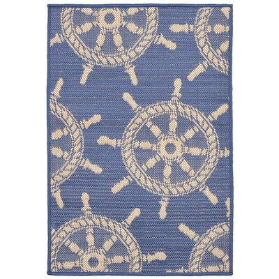 Valero Blue Indoor/Outdoor Area Rug Rug Size: Rectangle 111 x 211
