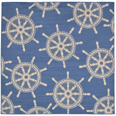 Valero Blue Indoor/Outdoor Area Rug Rug Size: Square 710