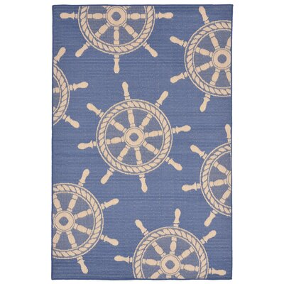 Valero Blue Indoor/Outdoor Area Rug Rug Size: Rectangle 410 x 76